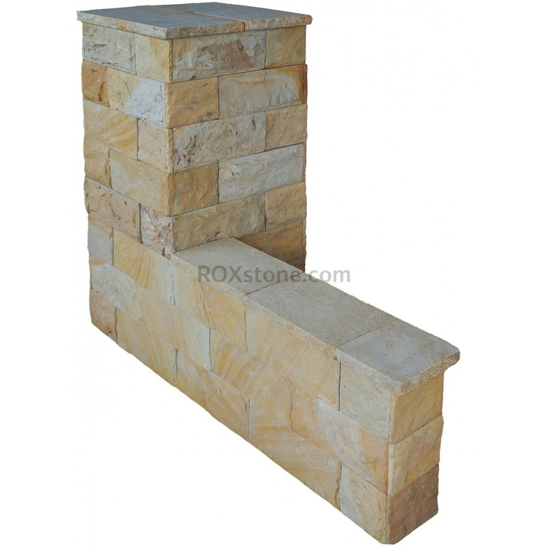 deco block coastal sands one piece natural sandstone wall. Black Bedroom Furniture Sets. Home Design Ideas